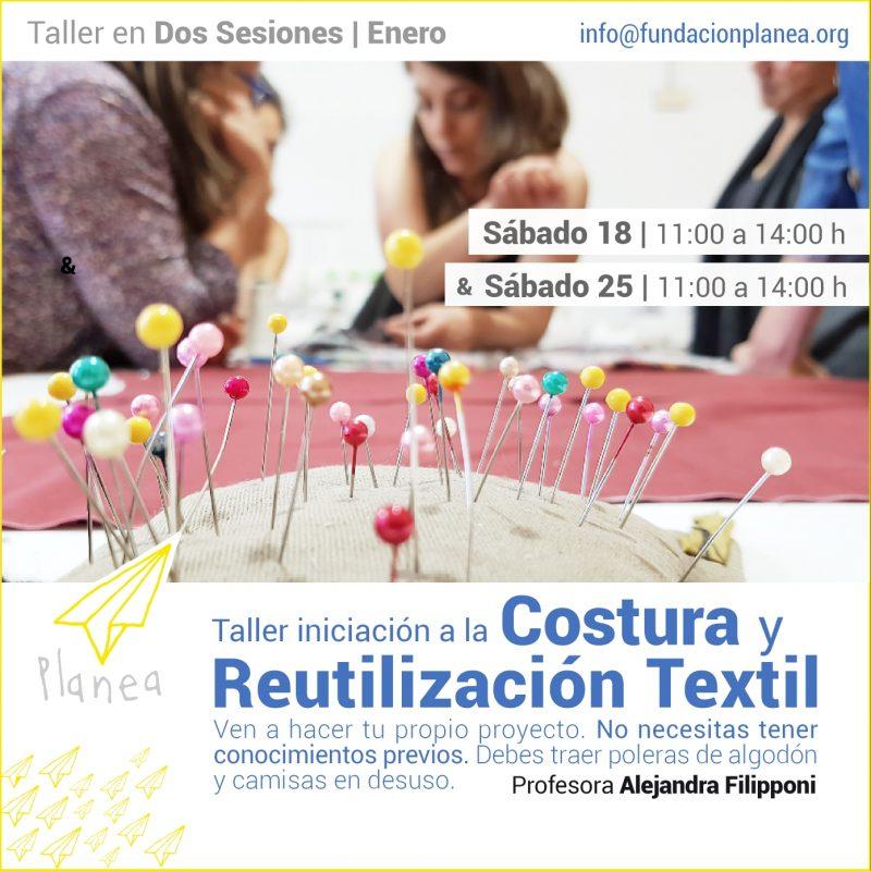 Taller Iniciación a la Costura y Reutilización Textil